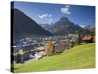 Austria, Vorarlberg (Region), Lechtal, Lech, Omeshorn-Rainer Mirau-Stretched Canvas Print