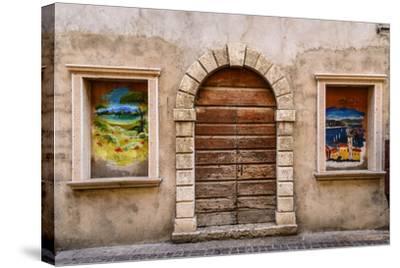 Italy, Veneto, Lake Garda, Torri Del Benaco, Old Town-Udo Siebig-Stretched Canvas Print
