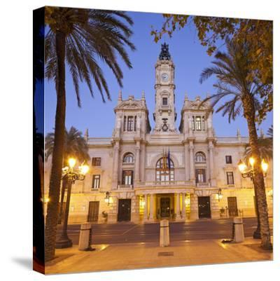 Spain, Valencia, Place De L'Ajuntament, City Hall-Rainer Mirau-Stretched Canvas Print