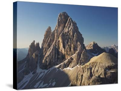 Zwšlferkofel, North Face, South Tyrol, the Dolomites Mountains, Italy-Rainer Mirau-Stretched Canvas Print