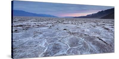 Badwater Basin, Salt Lake, Death Valley National Park, California, Usa-Rainer Mirau-Stretched Canvas Print