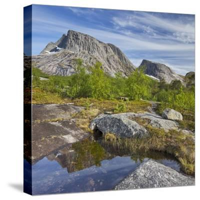 Norway, Northern Country, Lofoten, Ballangen, Saetran, Efjorden, Huglhornet-Rainer Mirau-Stretched Canvas Print