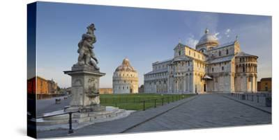 Italy, Tuscany, Pisa, Piazza Del Duomo, Cathedral-Rainer Mirau-Stretched Canvas Print