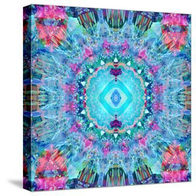 A Blue Water Mandala from Flower Photographs-Alaya Gadeh-Stretched Canvas Print