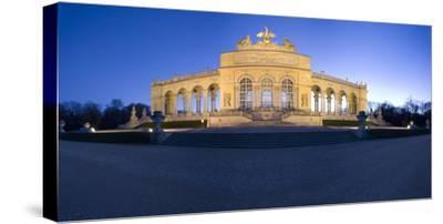 Austria, Vienna, Palace Schšnbrunn, Palace-Park, Gloriette, Buildings, Evening-Mood, Panorama-Rainer Mirau-Stretched Canvas Print
