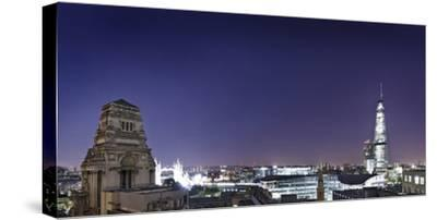 London, Panorama, Trinity House, Jewel House at the Tower of London, Roof Terrace Mint Hotel-Axel Schmies-Stretched Canvas Print