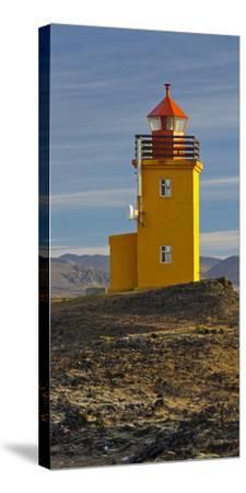 Hopsneses Lighthouse, Reykjanes (Headland), Iceland-Rainer Mirau-Stretched Canvas Print
