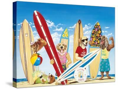 K-9 Surf Club-Scott Westmoreland-Stretched Canvas Print
