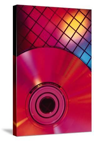 Compact Disc on Grid-Comstock-Stretched Canvas Print