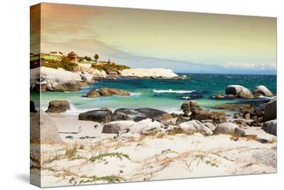 Awesome South Africa Collection - Boulders Beach at Sunset - Cape Town I-Philippe Hugonnard-Stretched Canvas Print