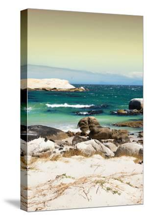 Awesome South Africa Collection - Boulders Beach at Sunset - Cape Town II-Philippe Hugonnard-Stretched Canvas Print