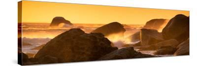 Awesome South Africa Collection Panoramic - Power of the Ocean at Sunset IV-Philippe Hugonnard-Stretched Canvas Print