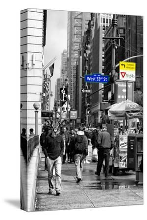 Safari CityPop Collection - Manhattan West 33rd Street II-Philippe Hugonnard-Stretched Canvas Print