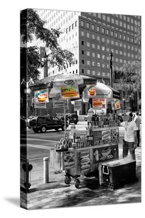 Safari CityPop Collection - NYC Hot Dog with Zebra Man-Philippe Hugonnard-Stretched Canvas Print