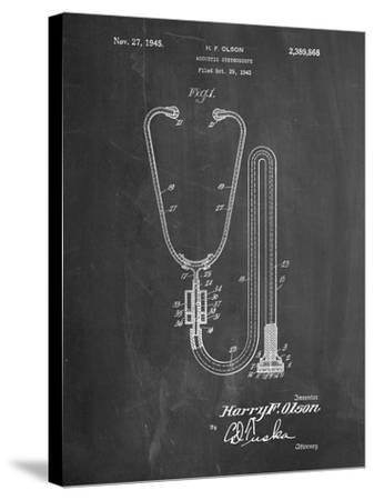 Stethoscope Patent-Cole Borders-Stretched Canvas Print