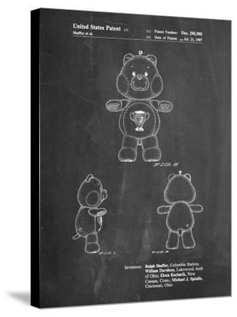 Champ Care Bear-Cole Borders-Stretched Canvas Print
