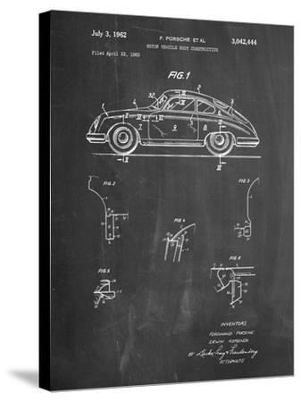 1960 Porsche 365 Patent-Cole Borders-Stretched Canvas Print