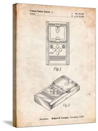 Mattel Electronic Basketball Game Patent-Cole Borders-Stretched Canvas Print