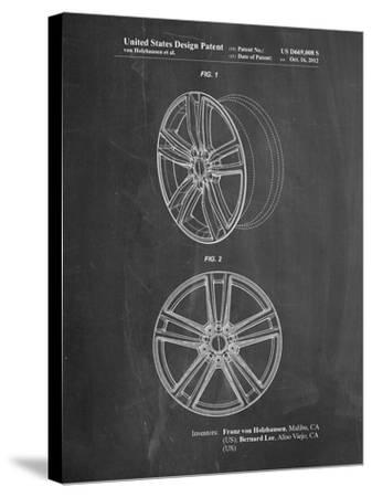 Tesla Car Wheels Patent-Cole Borders-Stretched Canvas Print