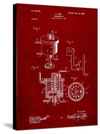Ford Carburetor 1898 Patent-Cole Borders-Stretched Canvas Print