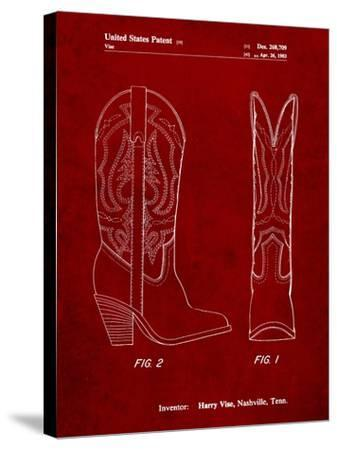 Texas Boot Company 1983 Cowboy Boots Patent-Cole Borders-Stretched Canvas Print