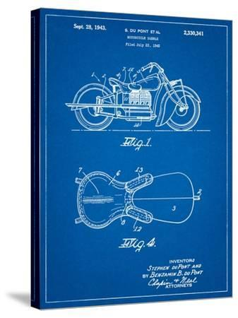 Indian Motorcycle Saddle Patent-Cole Borders-Stretched Canvas Print