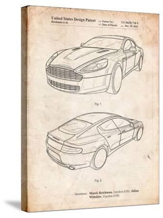 Aston Martin DBS Volante Patent-Cole Borders-Stretched Canvas Print