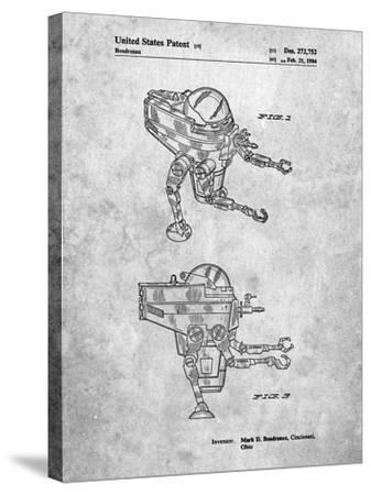 Mattel Space Walking Toy Patent-Cole Borders-Stretched Canvas Print