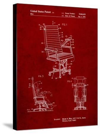 Exercising Office Chair Patent-Cole Borders-Stretched Canvas Print