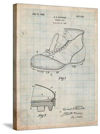 Football Cleat 1928 Patent-Cole Borders-Stretched Canvas Print