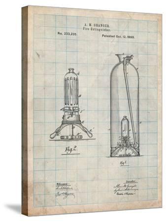 Antique Fire Extinguisher 1880 Patent-Cole Borders-Stretched Canvas Print