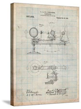 Planetarium 1909 Patent-Cole Borders-Stretched Canvas Print