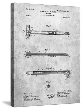 Vintage Claw Hammer Patent 1899-Cole Borders-Stretched Canvas Print
