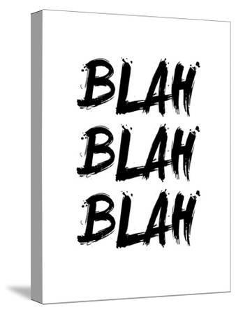 Blah Blah Blah White-NaxArt-Stretched Canvas Print