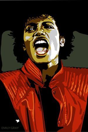 Michael Jackson - Thiller-Emily Gray-Stretched Canvas Print