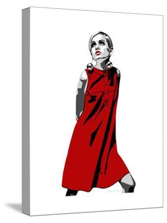 Twiggy-Emily Gray-Stretched Canvas Print