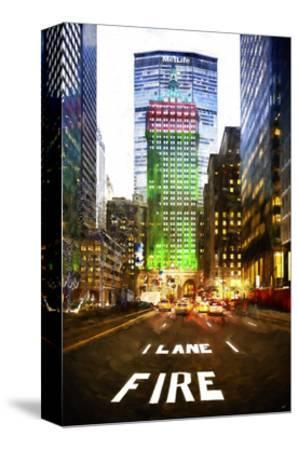 Manhattan Fire Lane-Philippe Hugonnard-Stretched Canvas Print