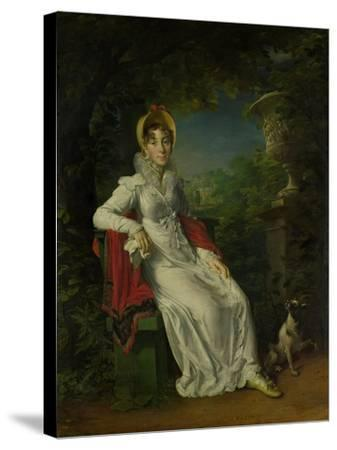 Marie Caroline Ferdinande Louise De Naples, Wife of Duke De Berry-Francois Pascal Simon Gerard-Stretched Canvas Print