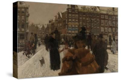 Bridge over the Singel at the Paleisstraat, Amsterdam, C. 1896-George Hendrik Breitner-Stretched Canvas Print
