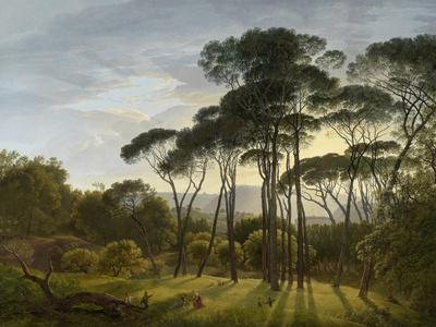 Italian Landscape with Umbrella Pines, 1805-Hendrik Voogd-Stretched Canvas Print
