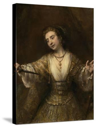 Lucretia, 1664-Rembrandt van Rijn-Stretched Canvas Print