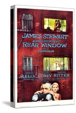 Rear Window, Grace Kelly, James Stewart, 1954--Stretched Canvas Print
