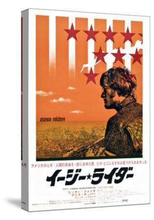 Easy Rider, Peter Fonda on Japanese Poster Art, 1969--Stretched Canvas Print