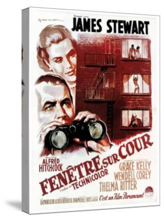 Rear Window, (aka Fenetre Sur Cour), French Poster Art, 1954--Stretched Canvas Print