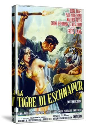 The Tiger of Eschnapur, (AKA Der Tiger Von Eschnapur), Italian Poster Art, 1959--Stretched Canvas Print