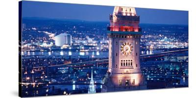 Clock Tower of the Custom House, Boston, Suffolk County, Massachusetts, USA--Stretched Canvas Print