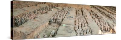 Terracotta Warriors and Horses, Xi'An, Shaanxi Province, China--Stretched Canvas Print