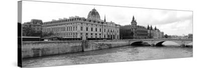 Pont Au Change over Seine River, Palais De Justice, La Conciergerie, Paris, Ile-De-France, France--Stretched Canvas Print