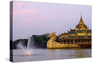 Karaweik, Kan Daw Gyi Lake and Park, Yangon (Rangoon), Myanmar (Burma), Asia-Nathalie Cuvelier-Stretched Canvas Print