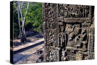 Temple of Baphuon, Built by King Udayaditiavarman Ii in the Mid-11th Century, Restoration Work-Nathalie Cuvelier-Stretched Canvas Print